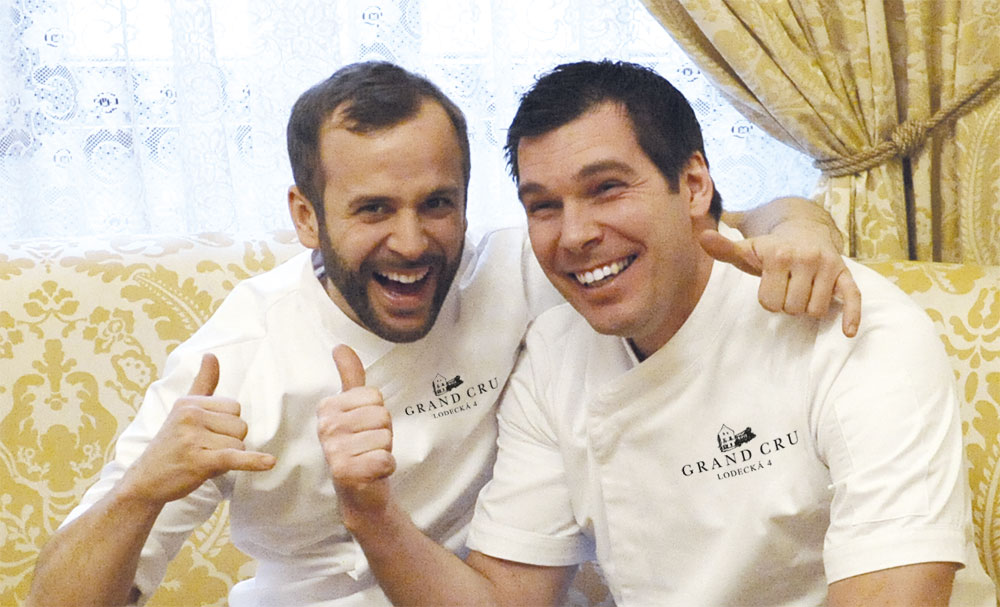 Team of chefs Svatopluk Hemmer and Saša Pavlovič